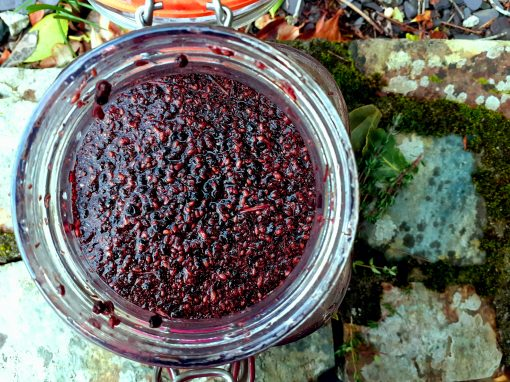 Raspberry herbal shrub